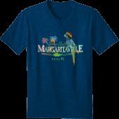 Margaritaville Logo Neon V-Neck