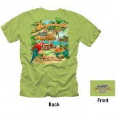 Negril Boat Beach Collage T-shirt